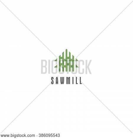 Template Logo Design For Sawmill Or Forestry