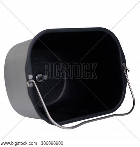 Bread Maker Pan Isolated On White Background. Replacement Part Accessory For Teflon Coated Bread Mak