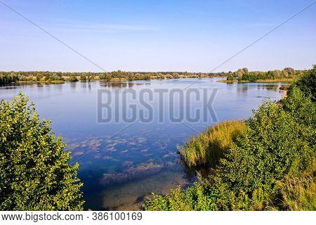 Lake Berezovka In The Kaliningrad Region At Noon, Top View