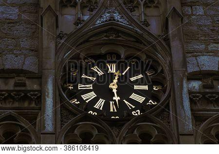 Detail Of Clock Tower Of Marienburg Castle Near Hanover, Germany