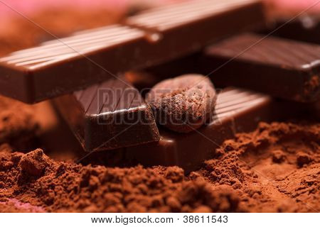 chocolate with cocoa beans