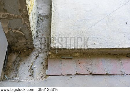 Grooves In The Concrete Floor In The Apartment