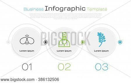 Set Line Easter Eggs, Priest And Willow Leaf. Business Infographic Template. Vector