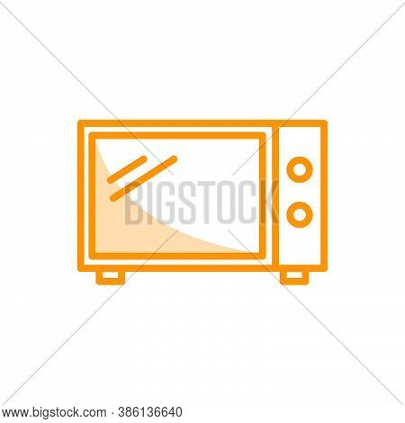 Illustration Vector Graphic Of Microwave Icon. Fit For Cooking, Oven, Food, Appliance, Household Ele