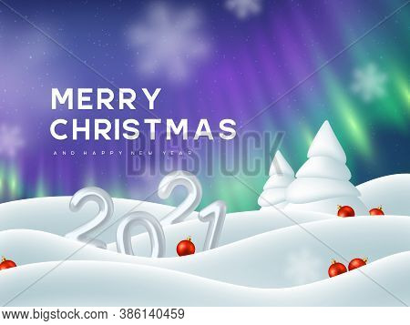 Aurora Christmas Lights 2021 2021 New Year Sign Vector Photo Free Trial Bigstock