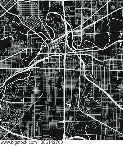 Urban City Map Of Fort Worth. Vector Illustration, Fort Worth Map Art Poster. Street Map Image With
