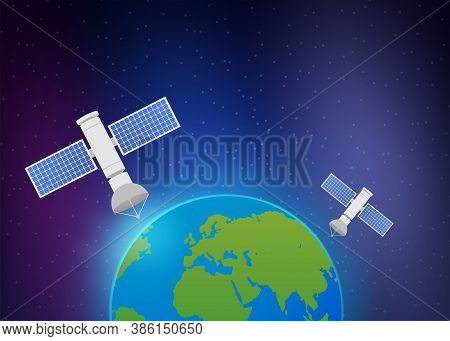 Artificial Satellites Orbiting The Planet Earth. Artificial Satellites Orbiting The Planet Earth, Gp