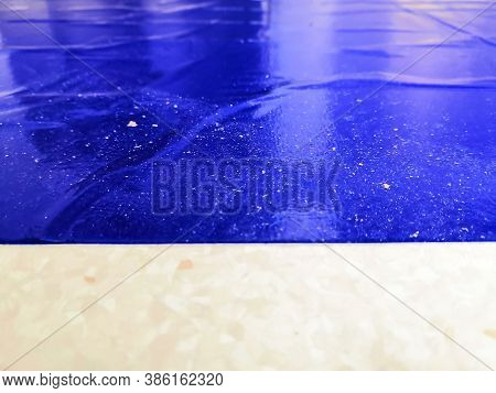 Entrance Peelable Disposable Antimicrobial Hospital Blue Decontaminating Sticky Mat. Focused On Dust