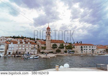 Embankment Of The Town Of Sutivan On The Island Of Brac, Croatia.
