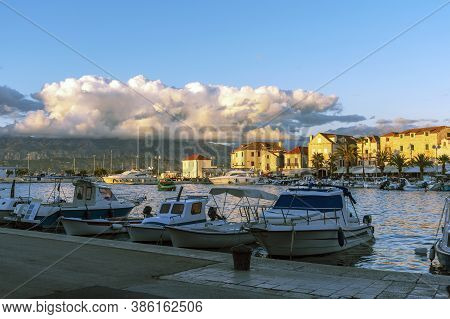 Embankment Of The Town Of Supetar On The Island Of Brac, Croatia.