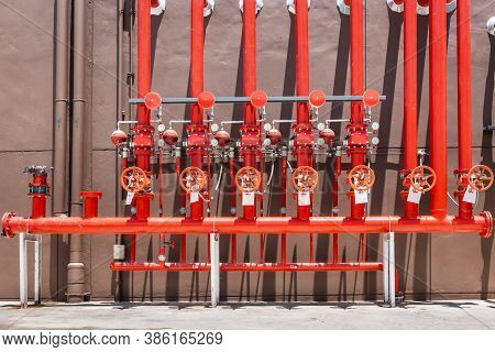 Firefighting Water Pipeline Of Fire Protection Systems, Water Plumbing Sprinkler Pipe For Security F
