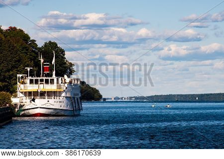Brockville, Ontario, Canada - September 19, 2020: The Canadian Empress Is Docked In Brockville. The