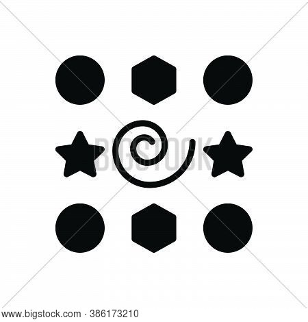 Black Solid Icon For Elements Inwardness Part Piece Graphic Shape