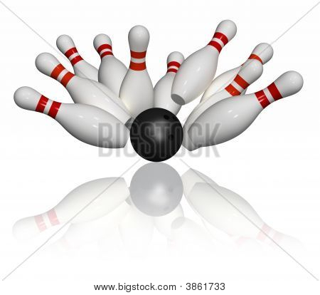 Bowling Strike - Isolated