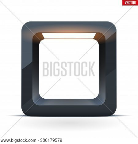 Lightbox With Spotlight. Black Cube For Product Presentation. Softbox For Object Shooting. Vector Il