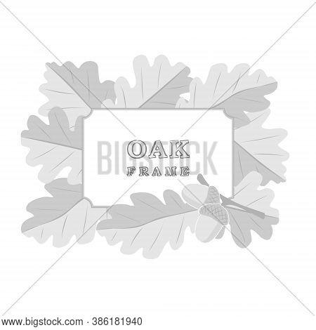 Oak Frame. Oak Vector. Hand Drawn Frame. Oak Leaves. Natural Frame. Forest. Botanic Frame