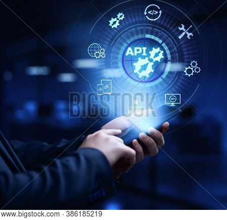 Api Application Programming Interface Function And Procedure Development Technology Concept On Scree