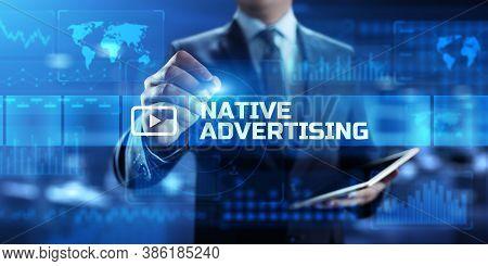 Native Advertising Internet Publication Concern Digital Marketing Business Concept.