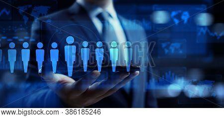 Human Resources Hr Management Employment Headhunting Recruitment Business Concept.