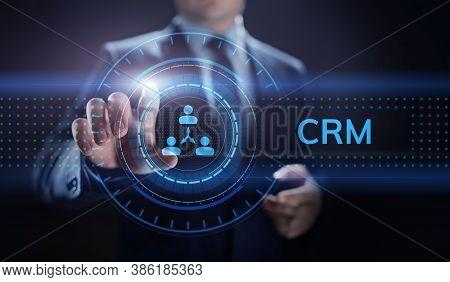 Crm - Customer Relationship Management. Enterprise Communication And Planning Software Concept.