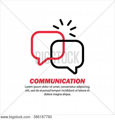 Communication Icon. Online Message. Social Network User. Chat Bot. Service Support. Sociology Resear