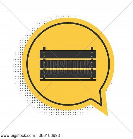 Black Wooden Box Icon Isolated On White Background. Grocery Basket, Storehouse Crate. Empty Wooden C