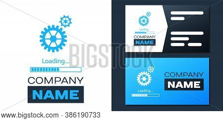Logotype Loading And Gear Icon Isolated On White Background. Progress Bar Icon. System Software Upda