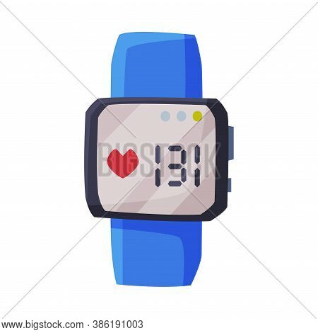 Smartwatch With Heart Rate Healthcare App, Portable Pulse Tracker With Touchscreen, Sport Equipment
