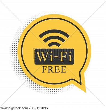 Black Free Wi-fi Icon Isolated On White Background. Wi-fi Symbol. Wireless Network Icon. Wi-fi Zone.