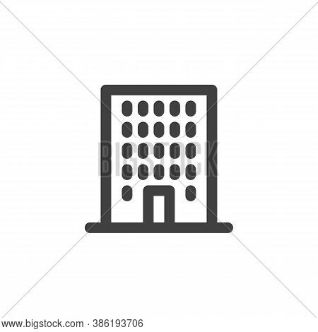 Townhouse Line Icon. Linear Style Sign For Mobile Concept And Web Design. Office Building Outline Ve