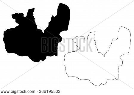 Maseru City (kingdom Of Lesotho, Capital City) Map Vector Illustration, Scribble Sketch City Of Mase