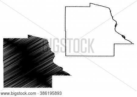 Dubuque County, Iowa (u.s. County, United States Of America, Usa, U.s., Us) Map Vector Illustration,