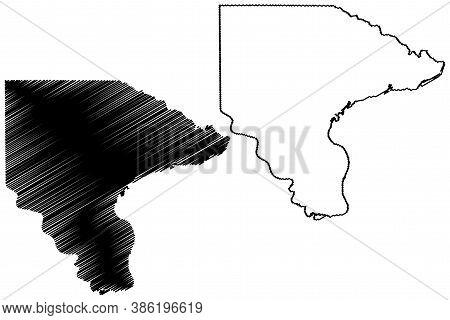 Lee County, Iowa (u.s. County, United States Of America, Usa, U.s., Us) Map Vector Illustration, Scr