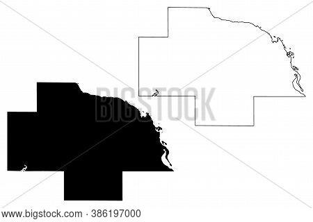 Wabasha County, Minnesota (u.s. County, United States Of America, Usa, U.s., Us) Map Vector Illustra