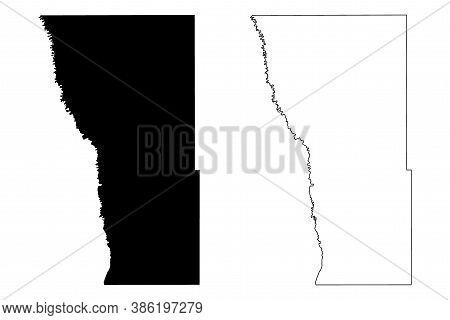 Wilkin County, Minnesota (u.s. County, United States Of America, Usa, U.s., Us) Map Vector Illustrat