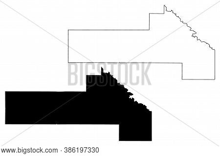 Yellow Medicine County, Minnesota (u.s. County, United States Of America, Usa, U.s., Us) Map Vector