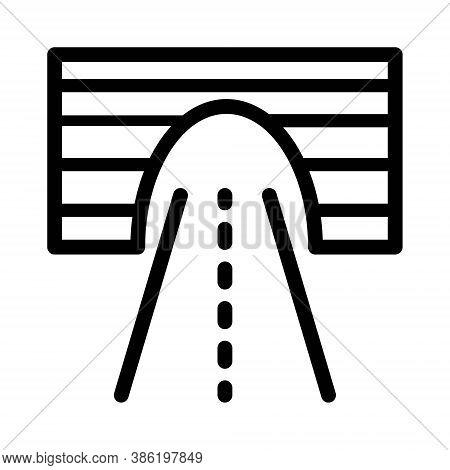 Tunnel Icon Illustration. Passageway, Driveway, Underground Road Tunnel Icon.