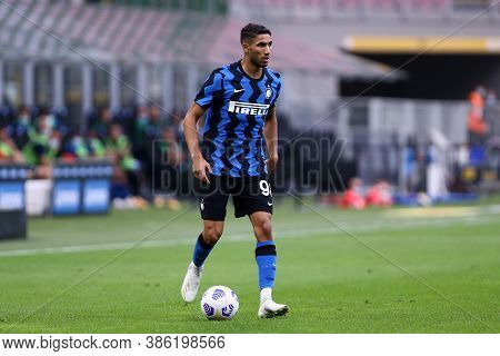 Milano, Italy. 19th September 2020. Friendly Match.  Fc Internazionale Vs Pisa Uc. Achraf Hakimi Of