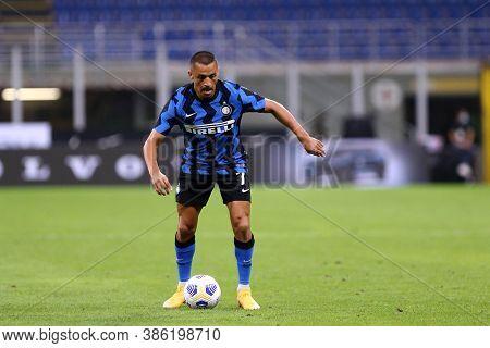 Milano, Italy. 19th September 2020. Friendly Match.  Fc Internazionale Vs Pisa Uc. Alexis Sanchez Of