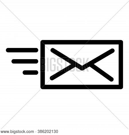 Send Message Icon. Envelope Letter Symbol. Mail Transfer, Email Sending Illustrations.