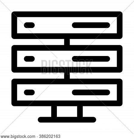 Computer Server Icon. Datacenter Symbol. Hosting Services Sign.