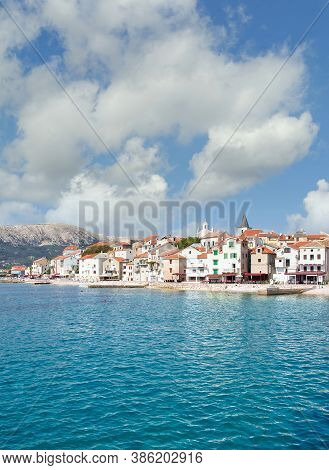 Village Of Baska On Krk Island,adriatic Sea,croatia
