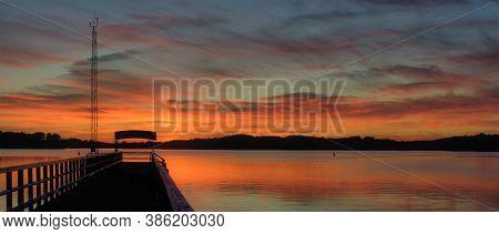 Sunset In Mueritz National Park,mecklenburg Lake District,germany