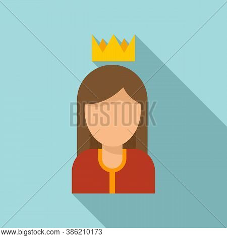 Queen Reputation Icon. Flat Illustration Of Queen Reputation Vector Icon For Web Design