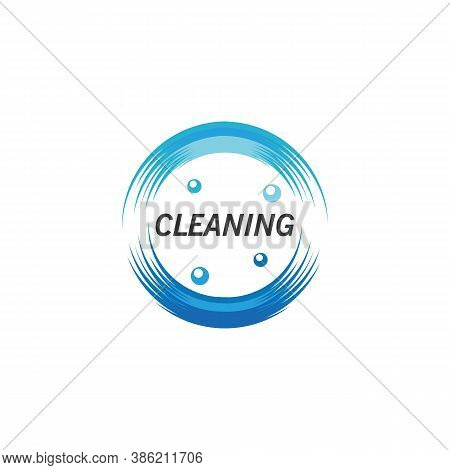 Cleanliness Broom Concept Logo Design Template Vector Illustration