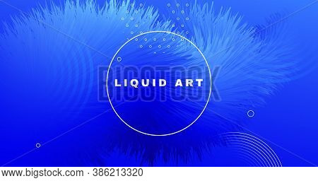 Abstract 3d Background. Blue Fluid Concept. Graphic Wallpaper. Color Digital Cover. Creative Movemen