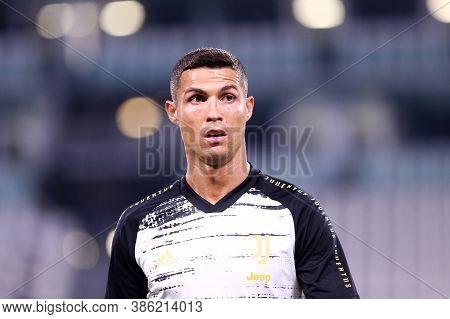 Torino, Italy. 20th September 2020. Italian Serie A. Cristiano Ronaldo Of Juventus Fc During The Ser