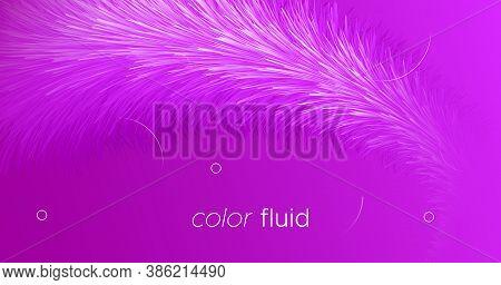 3d Movement. Fluid Cover. Pink Graphic Concept. Liquid Futuristic Shapes. Dynamic Motion. 3d Movemen
