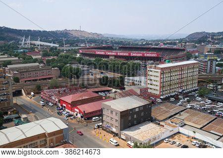 Johannesburg, Gauteng, South Africa Sept 19, 2020: Aerial View Of Emirates Airline Park (ellis Park