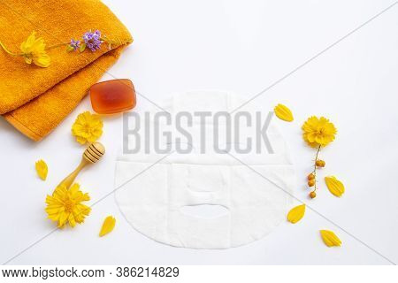 Natural Aroma Sheet Mask With Herbal Soap Extract Honey Health Care For Skin Face Essence Face Mask